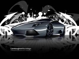 Lamborghini Murcielago wall by DesertViper