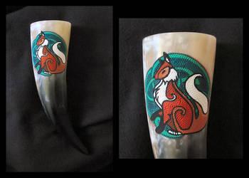 Drinking Horn Fox by cornum