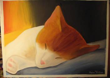 Sleeping Red Cat by cornum