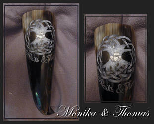 Wedding Horn: Celtic Lifetree by cornum