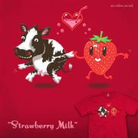 Strawberry Milk tee by InfinityWave