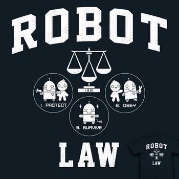 Robot Law School - tee by InfinityWave