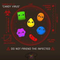 Candy Outbreak - tee by InfinityWave