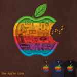 The Apple Core - retro colors tee by InfinityWave