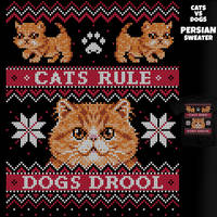 Persian Sweater - Cats VS Dogs tee by InfinityWave