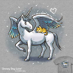 Snowy Day Love - tee by InfinityWave