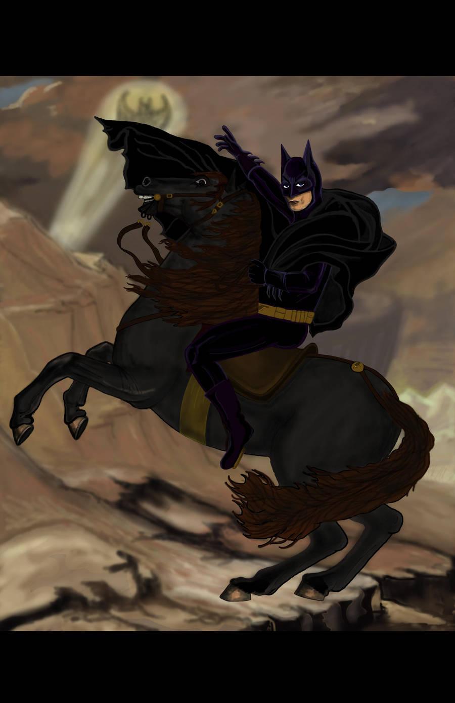 Batman Crossing the Alps by truncheonm