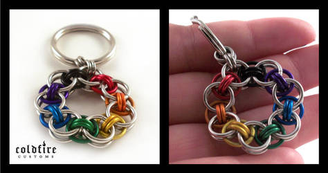 Rainbow Helm Chain Keychain by coldfirecustoms