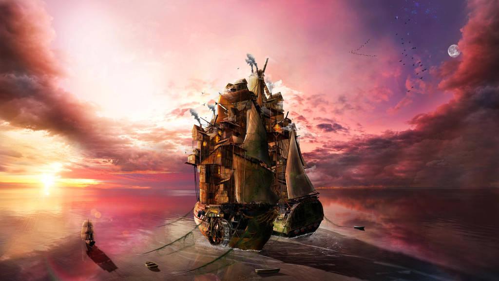 On the Sea ... by JavadJArt