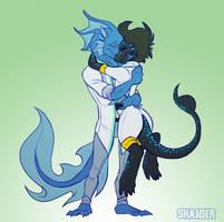 COM - Loskor and Hina by Shaiger