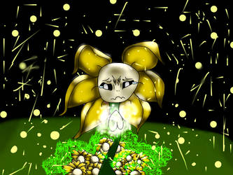 sad flowey by artsisters1