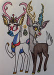 The Doe and a Buck by raritylover152