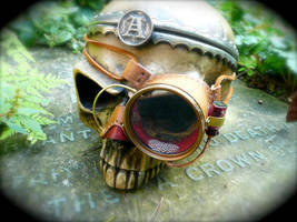 Steampunk Mono-Goggle by joffum