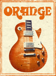 Orange old poster vintage by MitchBaker13