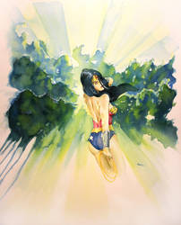 Wonder Woman, Through the trees... by MikeKretz