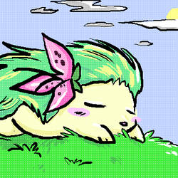 Shaymin in the Grass by cheruppi