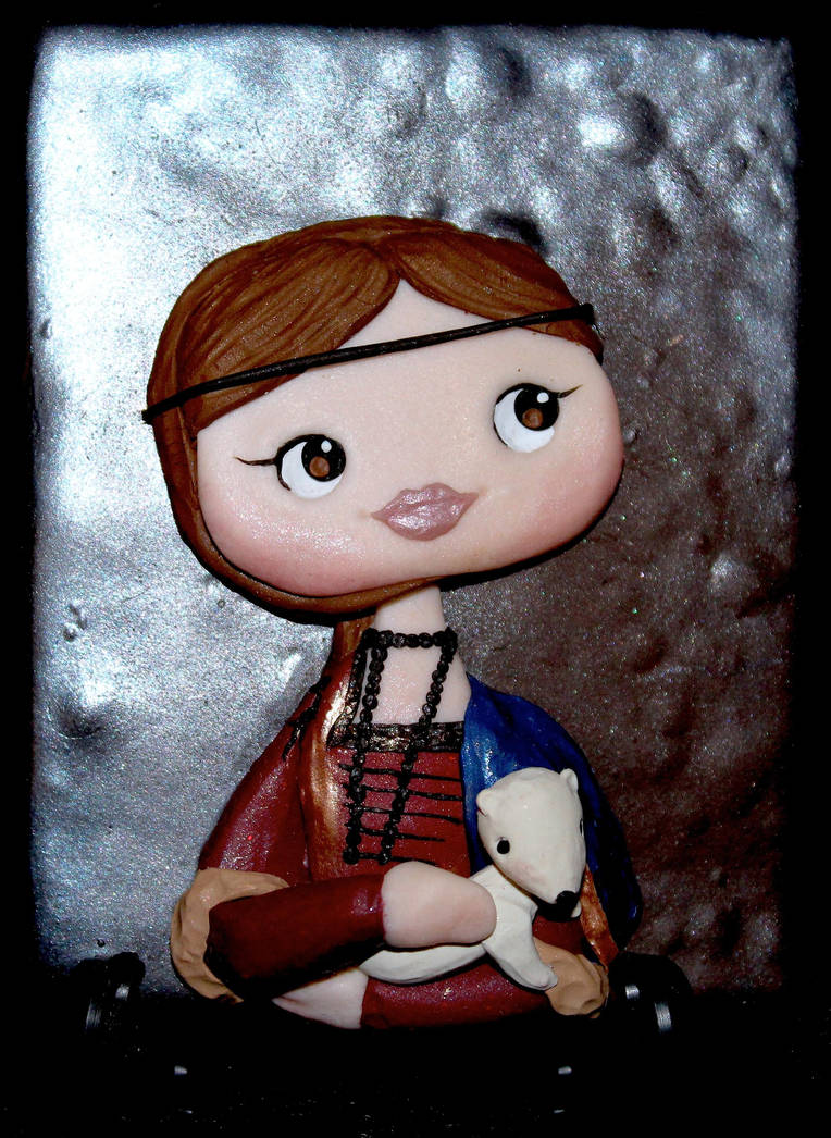 Lady with an Ermine by PolymerClayMuseum