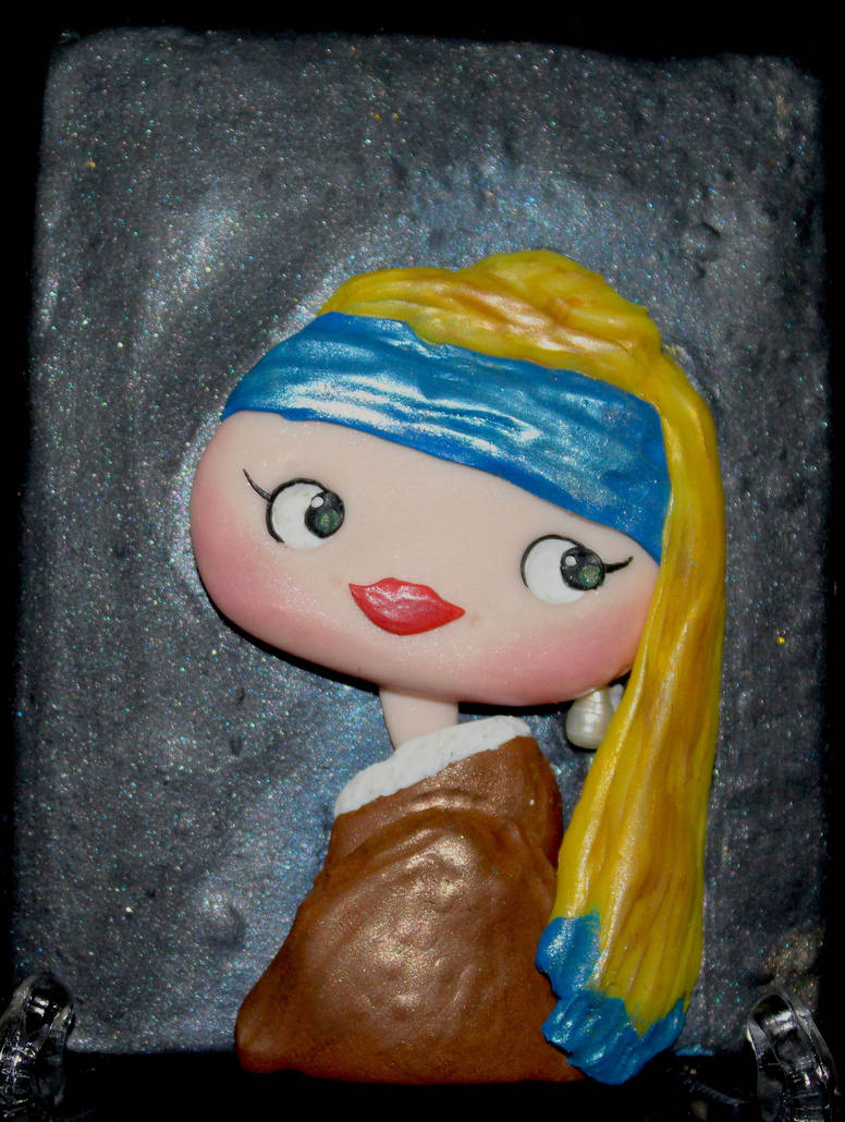 Girl with a Pearl Earing by PolymerClayMuseum