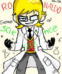 KB - Ronaldo Genius of Science - work in paint by ziki-zai
