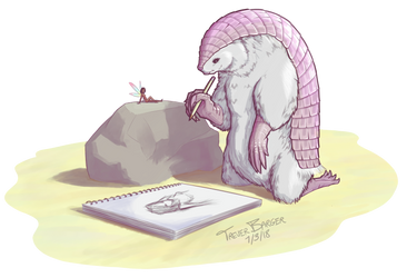 Pink Fairy Armadillo for MiscCandyArt by FleckoGold