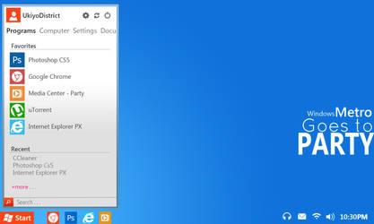 Windows Metro Party - Start Menu by ukiyodistrict