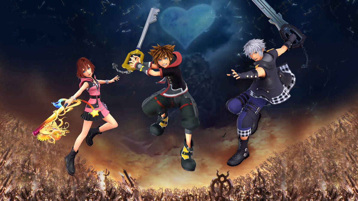 Kingdom Hearts Iii Sora Riku Kairi Wallpaper By The Dark Mamba 995