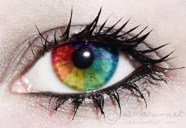 I saw the rainbow by rainbow-art
