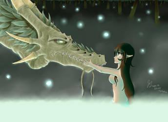 Dragon Y Elfa  by CowBe87