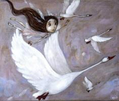 Feather Princess by Grzegorz Ptak by GrzegorzPtakArt
