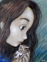 Pygmy-owl  by Grzegorz Ptak by GrzegorzPtakArt