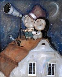 Astronomer by Grzegorz Ptak by GrzegorzPtakArt