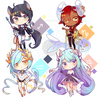 [Set Price] Zodiac Adoptables pt. 3 [CLOSED] by bitter--coffee