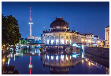 Berlin Bode Museum and TV Tower by pixelimage