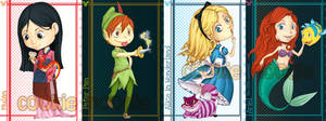 Disney card set1 by chocokami