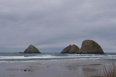 Oceanside Rocks by Baelath