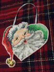 Santa Heart Ornament by Anarionthemage