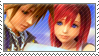 Sora and Kairi Stamp by Addicted-Squared