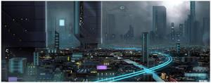 SCIFI CITY by MichaelBills