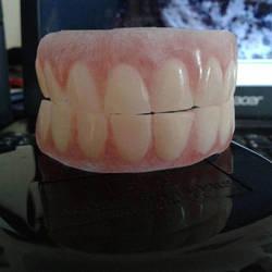 Hellboy cosplay teeth by HobbyFX