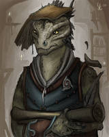 Argonian scholar by KrakenInABox