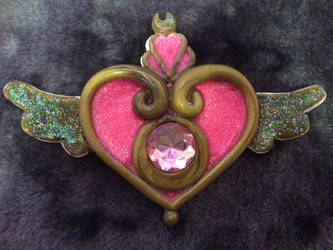 Sailor Moon Crisis Brooch Barette/bow/cosplay? by KittieKitsuneko