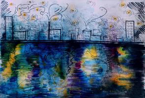 City at Night by Keltu