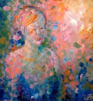 Light Pink and Blue Portrait by Keltu