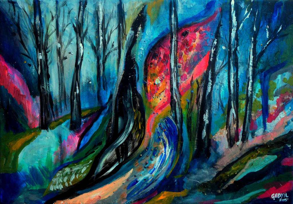 Forest Abstract by Keltu