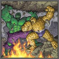 Hulk vs. Thing by KolinsArt