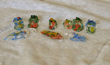 Frogs and Lizards 1 by Blue-Sun-Jewelers