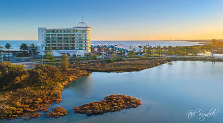 Sunrise over the Sea Shells Hotel by StachRogalski