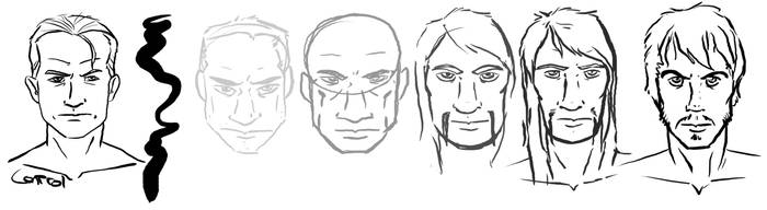 Human faces by Heros-Shadow
