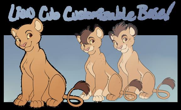 TLK Lion Cub Customizable Base by Machati