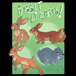 4 Rabbit Linearts [P2U] by Machati